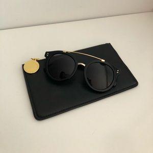 ebfce9b606abd Stella McCartney Accessories - Stella Mccartney Black Havana Round  Sunglasses